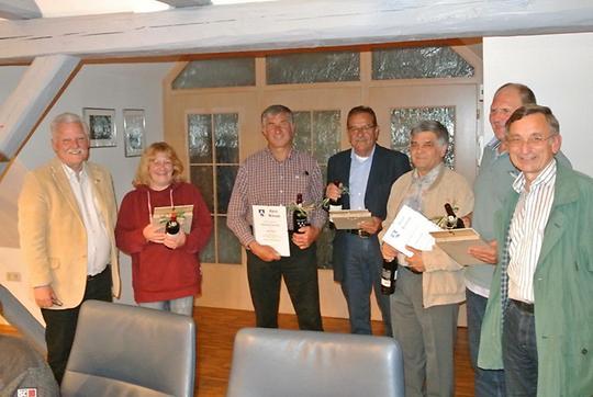 v.l.: Angelika Ohnemus, Karl Rühl, Dieter Gundel, Hans Endt, Karlheinz Wießinger, Reinhard Ernst